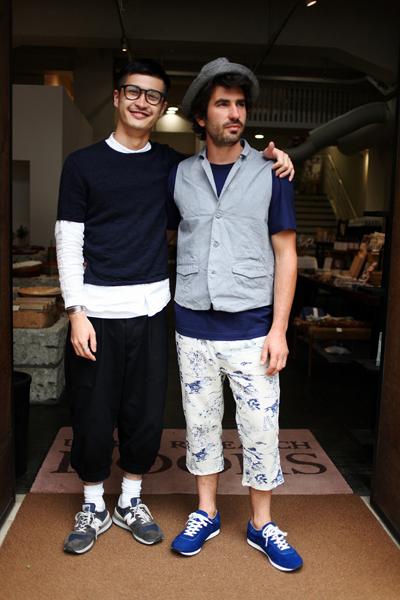 案内してくださったURBAN RESEACH DOORSの喜多さん(左)とミキ・アルカルデ(右)