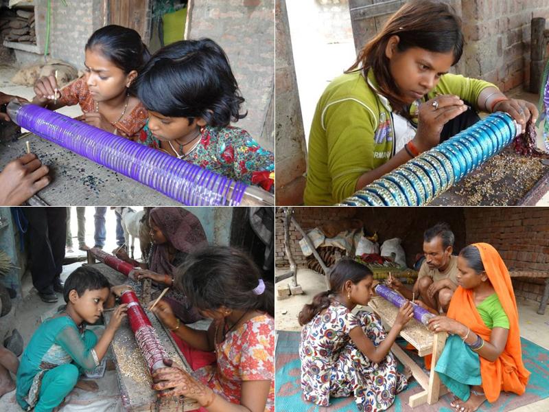 インドでは少なくとも500万人(2012年インド政府公式発表)の子どもたちが手工芸産業や農業の現場で働いている (写真提供:タラ・プロジェクト)