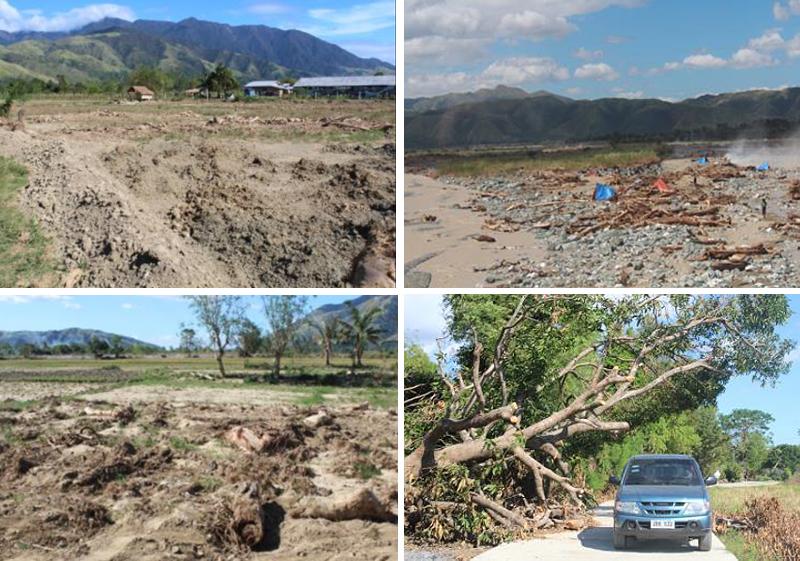 台風発生後の11月にサフィーのスタッフ被害地域を訪れた際の様子