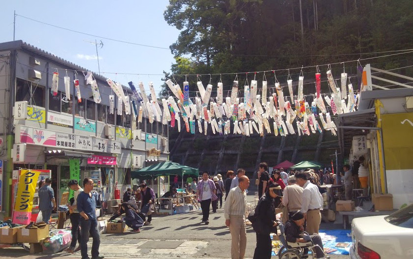 気仙沼南町紫市場(2015年5月撮影)