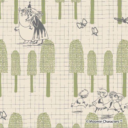 小説『ムーミン谷の夏まつり』の挿絵をモチーフにしたシリーズ