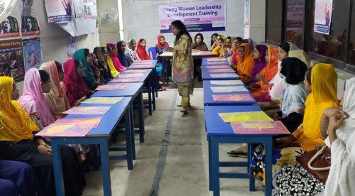バングラデシュ衣料産業労働者連盟(NGWF)が実施した女性のリーダーシップ研修(2019年)の様子
